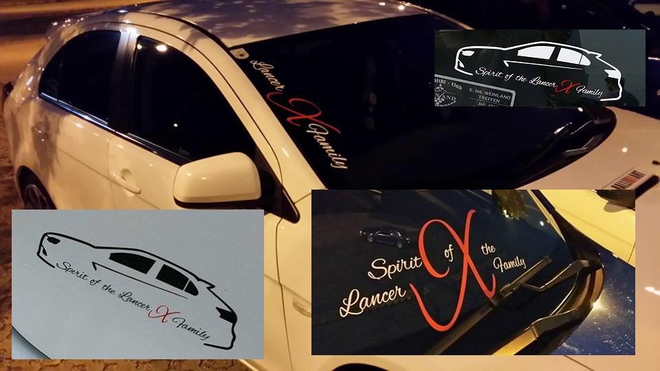 Stickerinsel_Spirit of the lancer x family Domainaufkleber