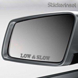 Stickerinsel Aufkleber Low and Slow