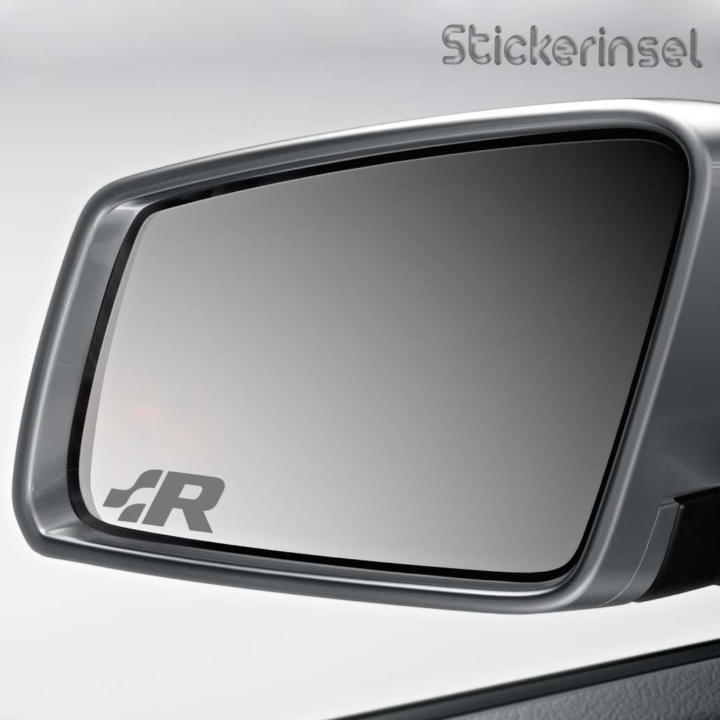 R Line Spiegel Aufkleber